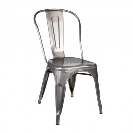 Silla plata metal dallas industrial 52495