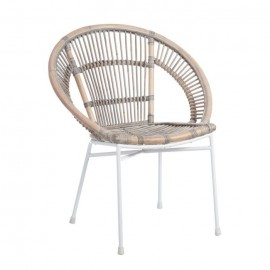 SILLA NATURAL RATÁN/METAL 66 X 63 X 81 CM