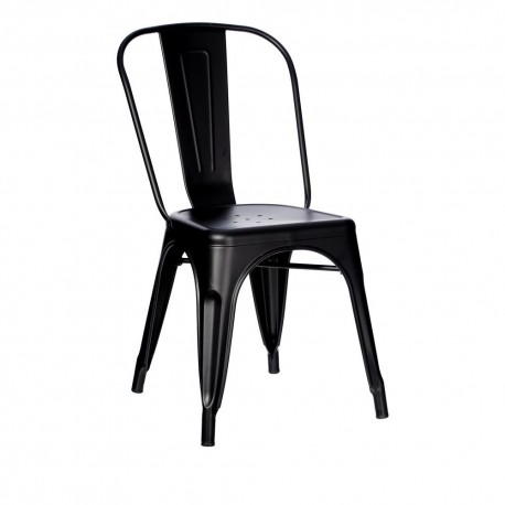 SILLA NEGRO METAL DALLAS INDUSTRIAL 45 X 52,50 X 85 CM