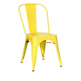 SILLA AMARILLO METAL DALLAS INDUSTRIAL 45 X 52,50 X 85 CM
