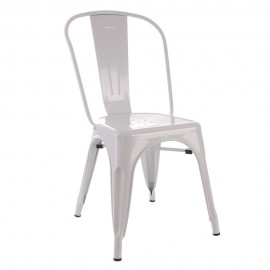 SILLA BLANCO METAL DALLAS INDUSTRIAL 45 X 52,50 X 85 CM