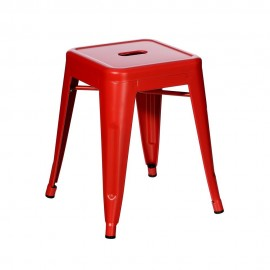 TABURETE ROJO METAL DALLAS INDUSTRIAL 38,70 X 38,70 X 45 C