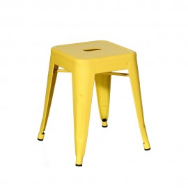 TABURETE AMARILLO METAL DALLAS INDUSTRIAL 38,70 X 38,70 X 45 C