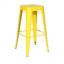 TABURETE AMARILLO METAL DALLAS INDUSTRIAL 43,50 X 43,50 X 76,5
